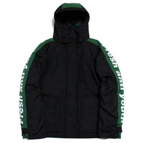 [Fresh anti youth] Logo Parka - Black