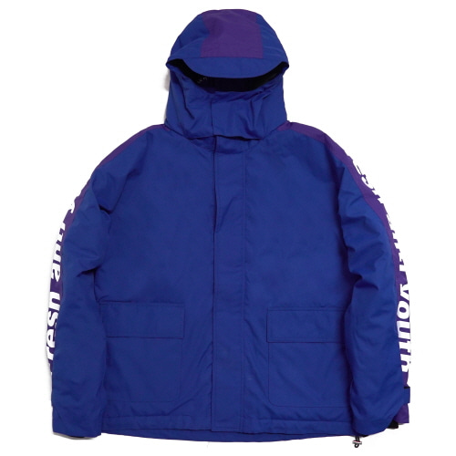 [Fresh anti youth] Logo Parka - Blue