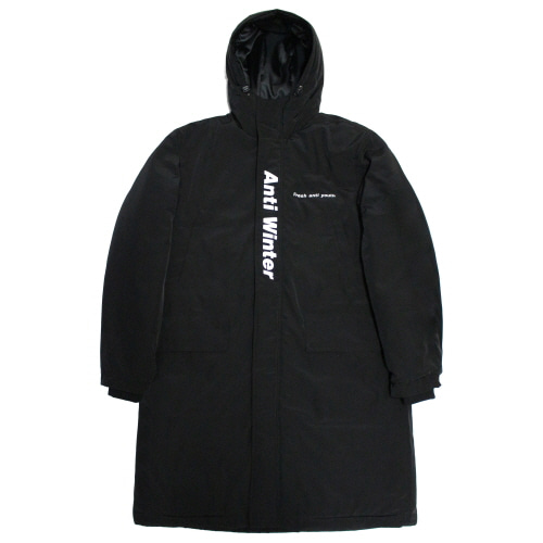 [Fresh anti youth] Anti Winter Long Padding Jacket - Black