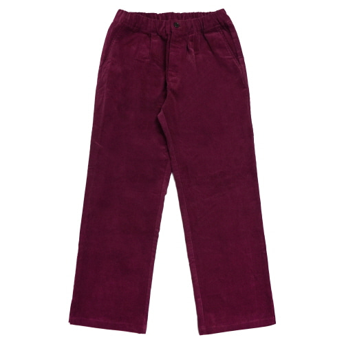 [Fresh anti youth] Corduroy Wide Pants - Burgundy