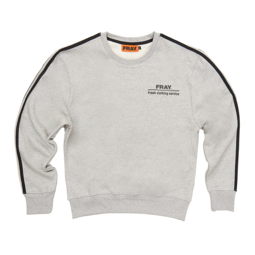 [FRAY] FRAY CREWNECK SWEATER - GREY