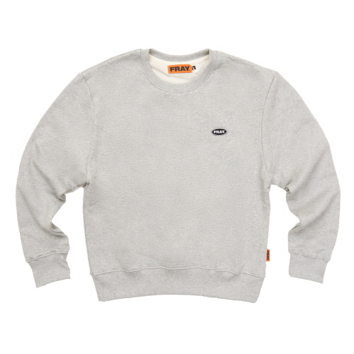 [FRAY] LOGO CREWNECK SWEATER - GREY