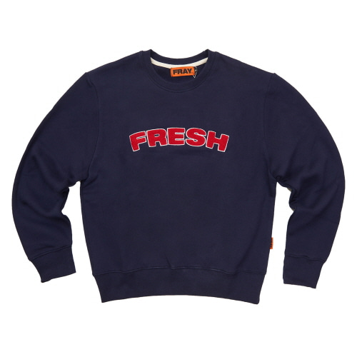[FRAY] FRESH CREWNECK SWEATER - DEEP NAVY