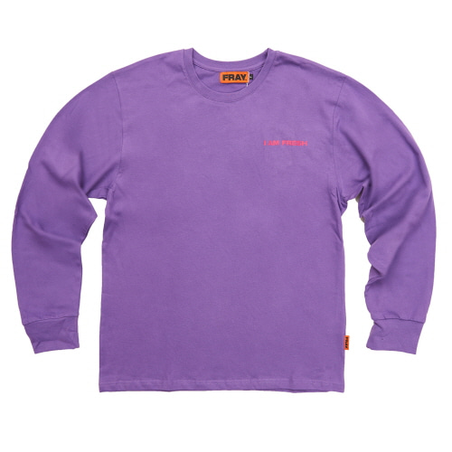 [FRAY] I AM FRESH LONG SLEEVE - PURPLE
