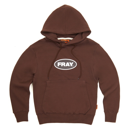 [FRAY] BIG LOGO PULLOVER HOODIE - BROWN