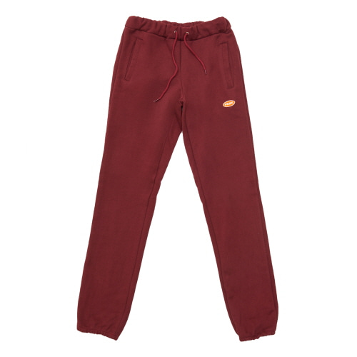 [FRAY] LOGO BASIC SWEAT PANTS - BURGUNDY