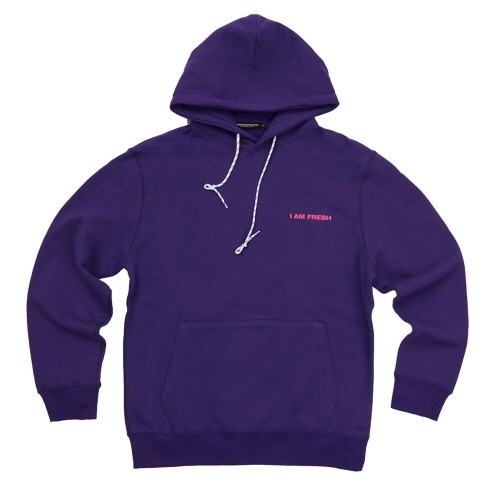 [Fresh anti youth] I AM FRESH FULLOVER HOODIE - PURPLE