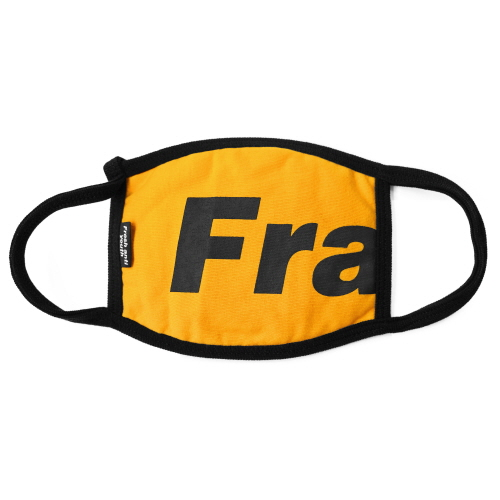 [Fresh anti youth] Fray Logo Mask - Yellow