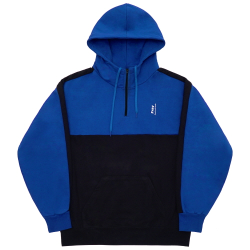 [Fresh anti youth] Half Zip-Up Hoody - Blue