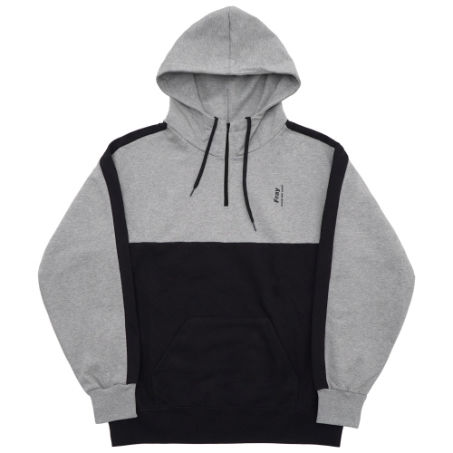 [Fresh anti youth] Half Zip-Up Hoody - Grey