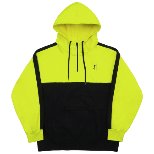 [Fresh anti youth] Half Zip-Up Hoody - Neon Yellow