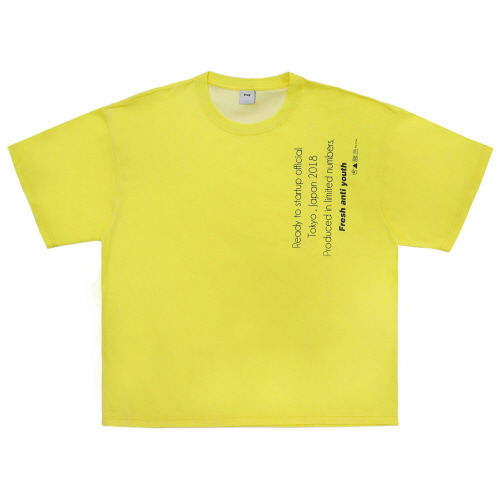 [Fresh anti youth] Reception T-Shirts - Neon Yellow