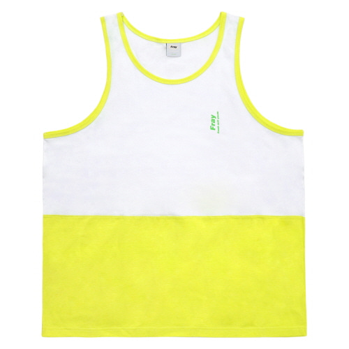 [Fresh anti youth] Half Tank Top - Neon Yellow