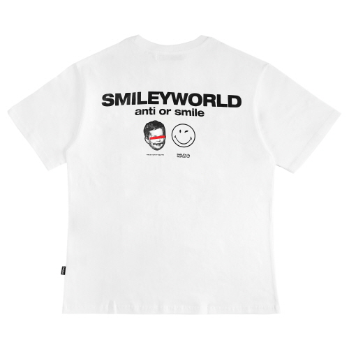 [FRAY x SMILEY] SMILEY WORLD T-SHIRTS - WHITE