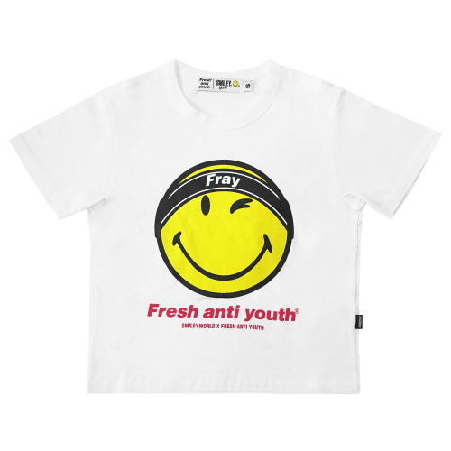 [FRAY x SMILEY] FRAY LOGO SMILE T-SHIRTS (FOR WOMEN) - WHITE