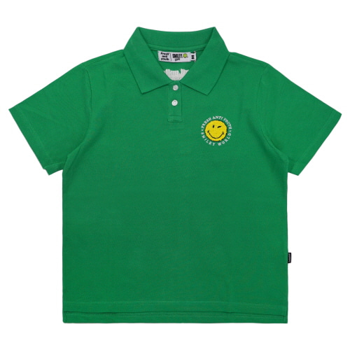 [FRAY x SMILEY] ANTI SMILE POLO SHIRTS (FOR WOMEN) - GREEN