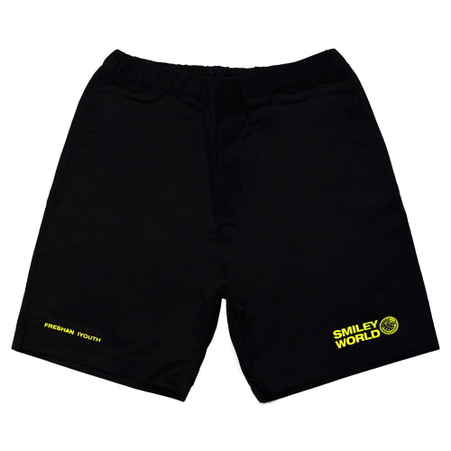 [FRAY x SMILEY] SMILEY WORDL RELAX SHORT PANTS - BLACK