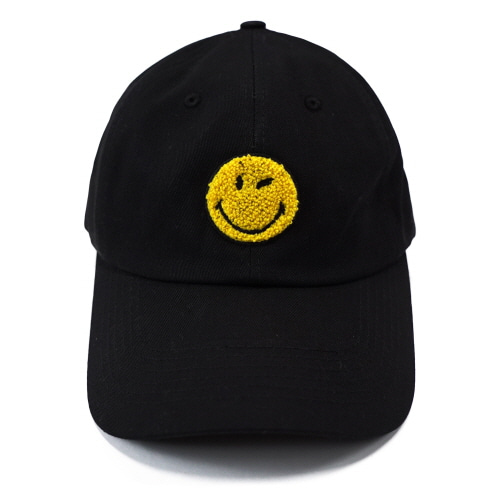 [FRAY x SMILEY] LOGO BASEBALL CAP - BLACK