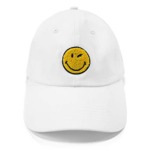 [FRAY x SMILEY] LOGO BASEBALL CAP - WHITE