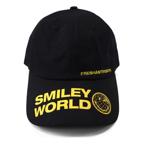 [FRAY x SMILEY] SMILEY WORLD BASEBALL CAP - BLACK