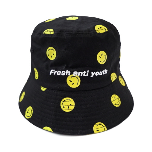 [FRAY x SMILEY] SMILEY BUCKET HAT - BLACK