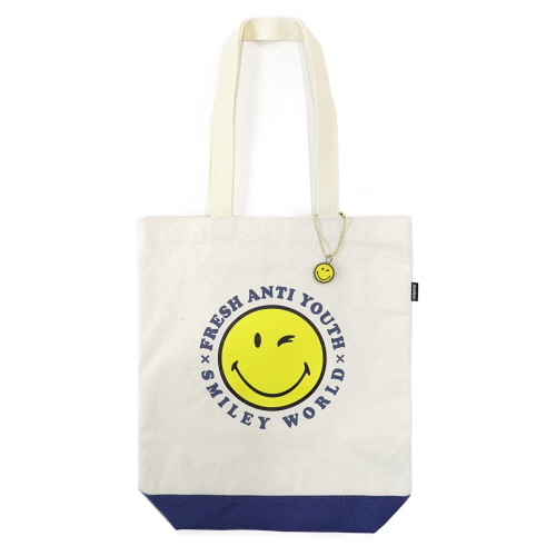 [FRAY x SMILEY] SMILEY LOGO TOTEBAG - NATURAL