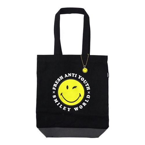 [FRAY x SMILEY] SMILEY LOGO TOTEBAG - BLACK