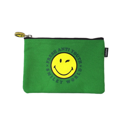 [FRAY x SMILEY] SMILEY LOGO POUCH BAG (SMALL SIZE) - GREEN