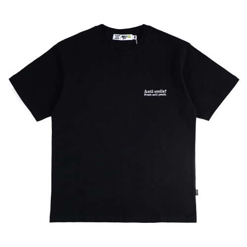 [FRAY x SMILEY] ANTI SMILE T-SHIRTS - BLACK
