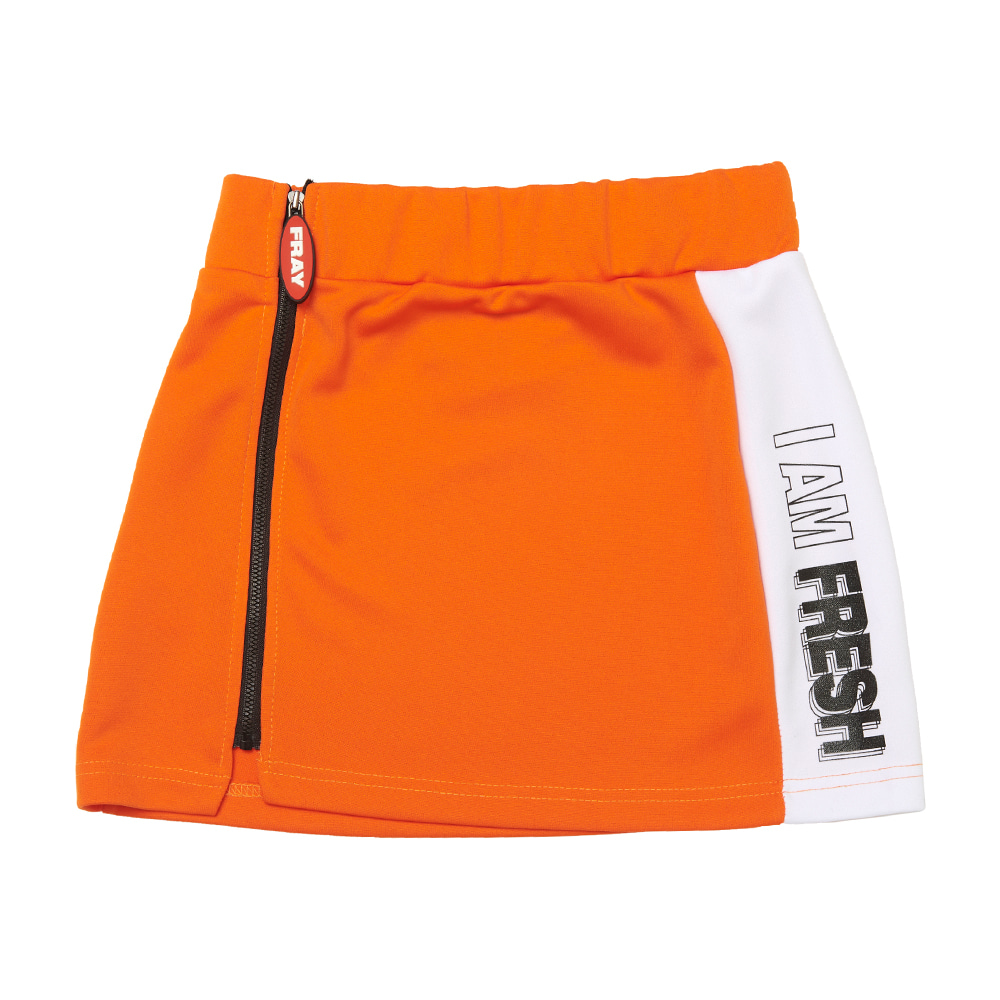 FRAY LINE SKIRT - ORANGE