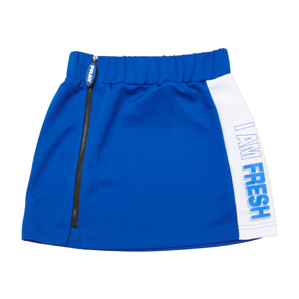 FRAY LINE SKIRT - BLUE