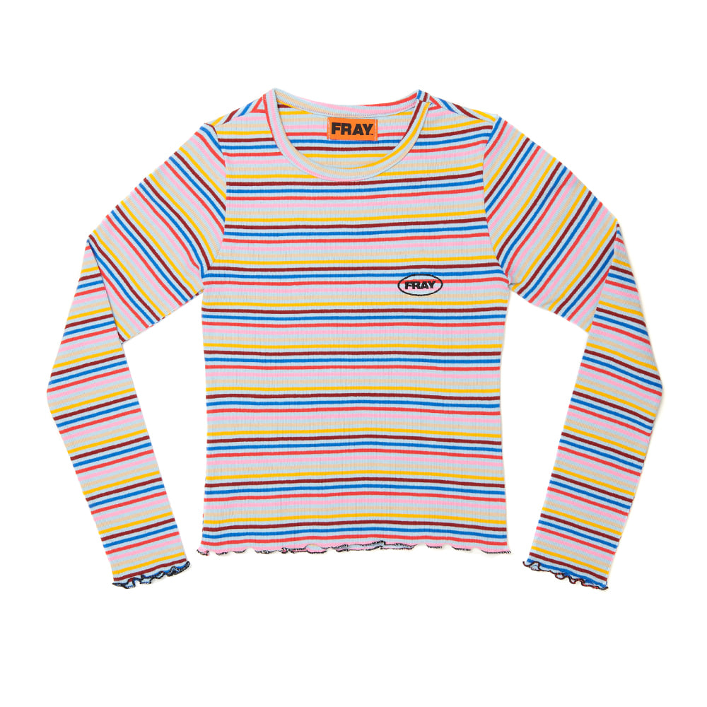 STRIPE SLIM T-SHIRTS - SKY BLUE STRIPE