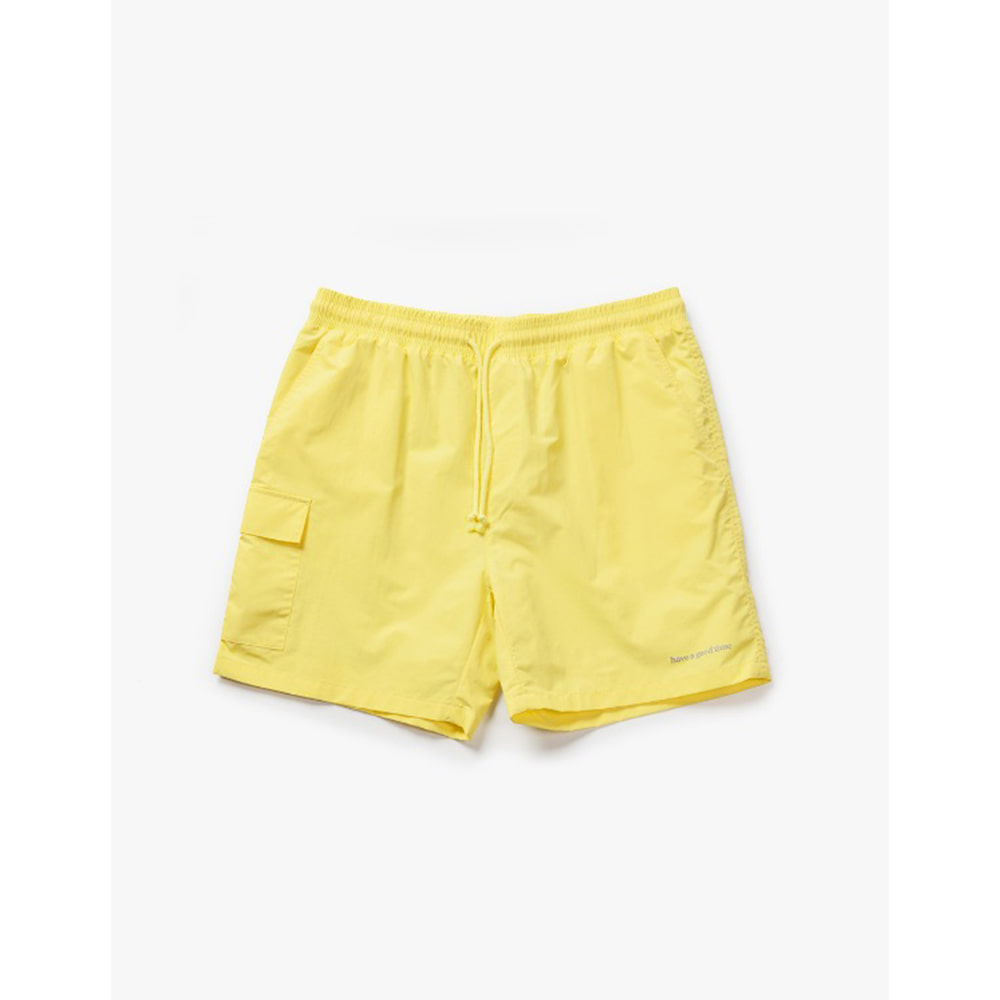 [해브어굿타임] Aquallum Mesh Pocket Shorts - Light Yellow