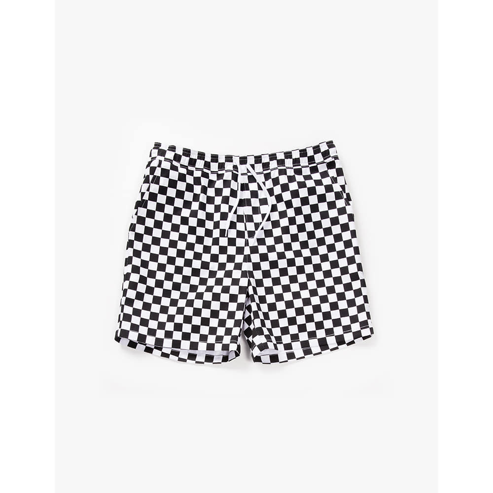 [Have a good time] Checker Boarder Easy Shorts - Black