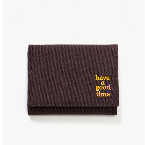 [have a good time] LOGO WALLET - Chocolate