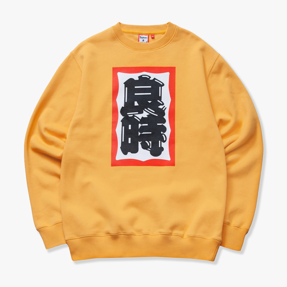 [have a good time] EDO FRAME CREWNECK - Cheddar Cheese
