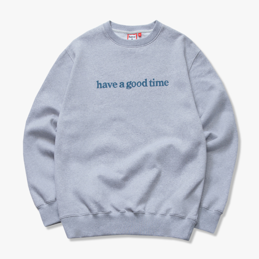 [해브어굿타임] SIDE LOGO CREWNECK - Heather Grey