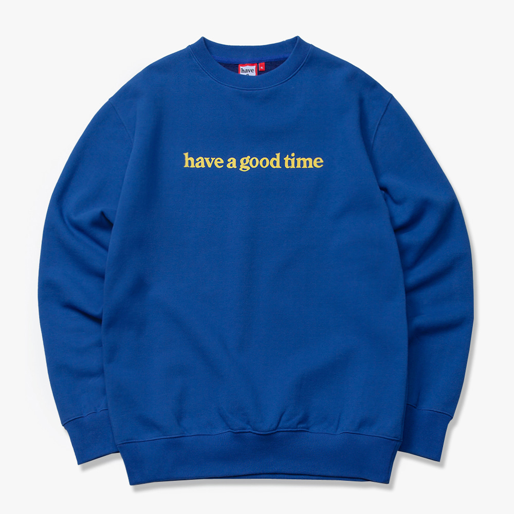 [have a good time] SIDE LOGO CREWNECK - Midnight Blue