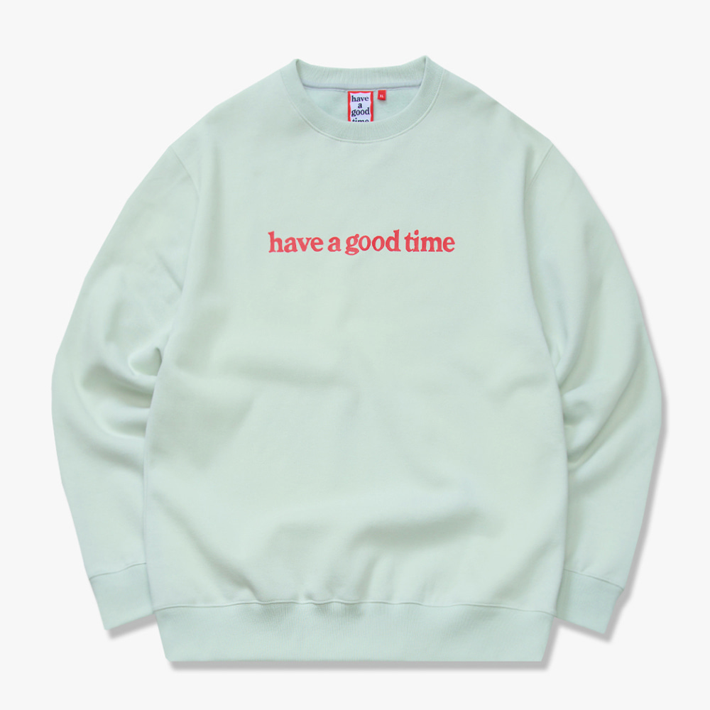 [have a good time] SIDE LOGO CREWNECK - Pistachio