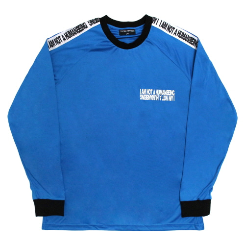 [17FW] Basic Logo Tape Jersey Tee - Blue
