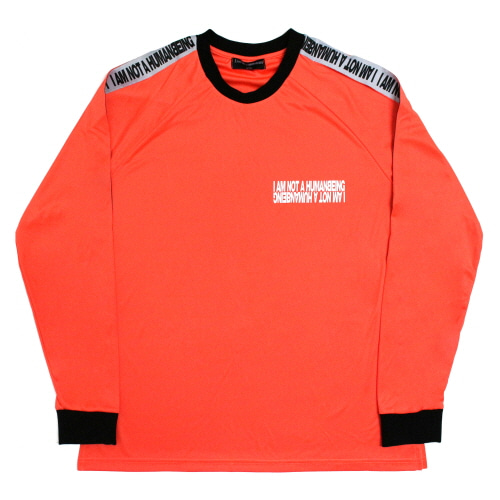 [17FW] Basic Logo Tape Jersey Tee - Orange