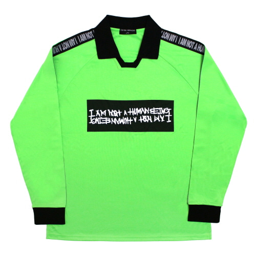 [17FW] Basic Logo Tape Soccer Jersey - Yellow Green