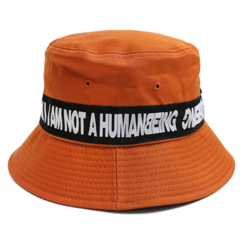 [17FW] Basic Logo Tape Bucket Hat - Orange