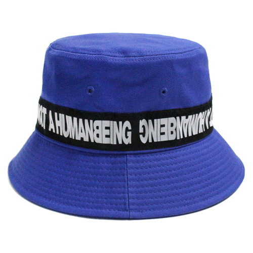 [17FW] Basic Logo Tape Bucket Hat - Blue