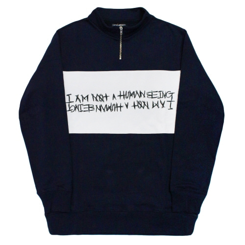 [17FW] Basic Logo Pull Over Sweat Shirts - Navy/White