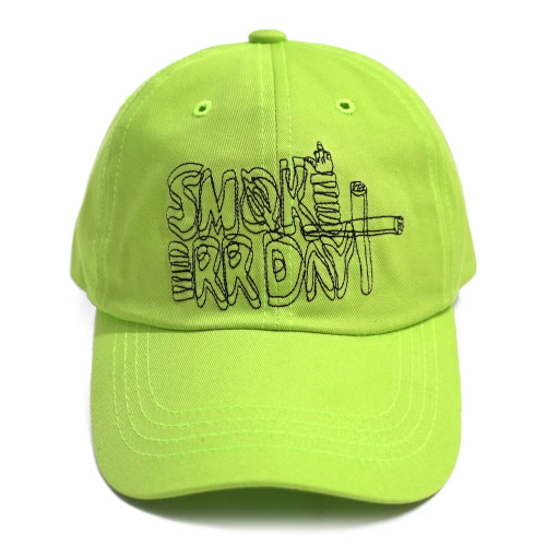 [17FW] Smoke Err Day Ball Cap - Yellow Green