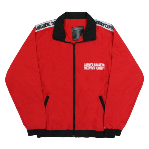 [17FW] Basic Logo Tape Track Top Jacket - Red