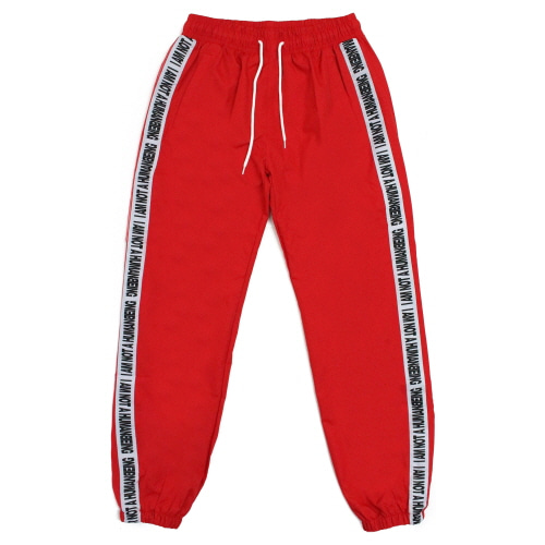 [17FW] Basic Logo Tape Track Pant - Red