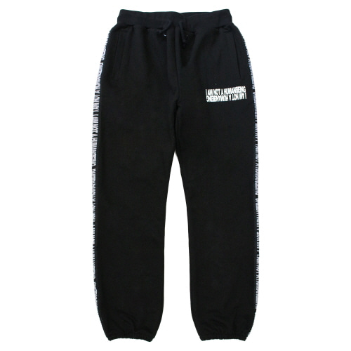 [17FW] Basic Logo Tape Sweat Pant - Black