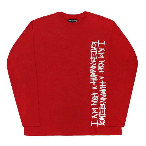 [17FW] Vertikal Basic Logo Long Sleeve - Red